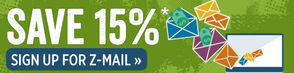 Save 15% when you sign up for Z-mail