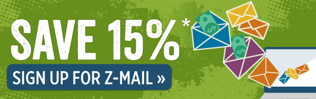 Save 15% when you sign up for Z-mail.