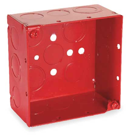 Electrical Box Square 30.3 cu in Red by USA Raco Electrical Boxes