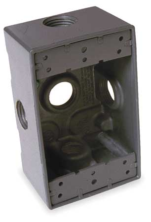 Weatherproof Box 1/2 in Hub 5Inlet by USA Bell Electrical Weatherproof Boxes