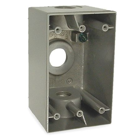 Weatherproof Box 1/2 in Hub 3Inlet by USA Bell Electrical Weatherproof Boxes
