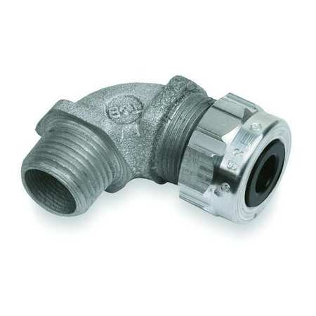 Liquid Tight Connector 1/2in. 90 deg Slv Model 4960AL by USA Thomas & Betts Electrical Strain Relief Connectors