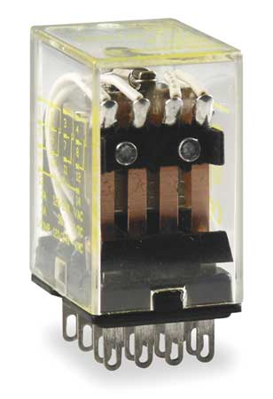 Relay 14Pin 4PDT 5A 24VDC Model 8501RSD14V53 by USA Square D Electrical Specialty Relays