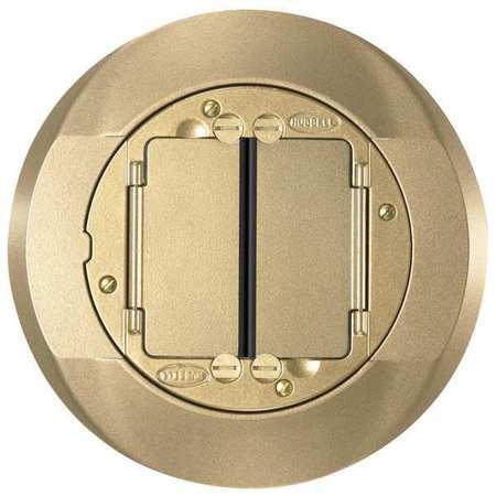 Floor Box Cover Carpet Flange Brass by USA Hubbell Kellems Electrical Floor Boxes & Covers
