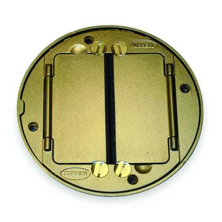 Floor Box Cover Tile Flange Brass by USA Hubbell Kellems Electrical Floor Boxes & Covers