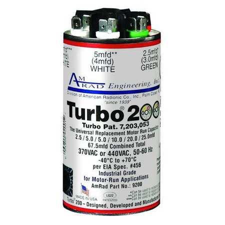 Motor Run Capacitor 2.5 67.5MFD 370/440V by USA Global Motor Run Capacitors