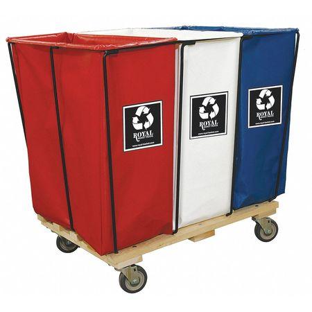 Royal Basket Enviro Cart 23.3 cu ft 3 Compartments