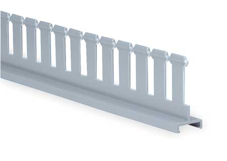 Divider Wall 4 In H Slotted Gray PVC by USA Panduit Wiring Ducts