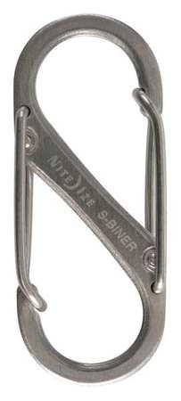 Nite Ize Double Gate Carabiner 1-9/16 In. Silver