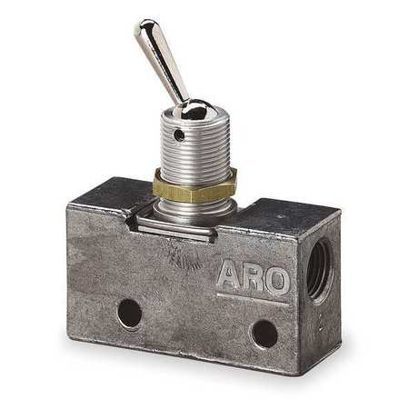 ARO 209-C Manual Air Control Valve,3-Way,1//8in NPT