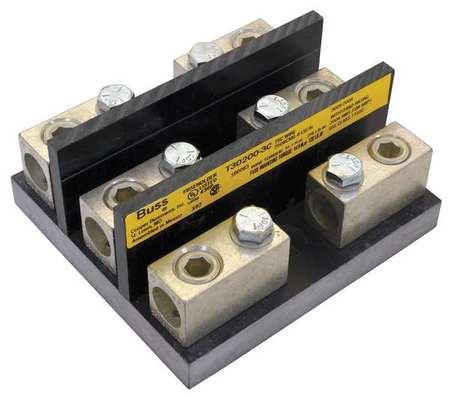 Fuse Block Industrial 200A 3 Pole Model T30200 3C by USA Eaton Bussmann Circuit Fuse Blocks & Holders