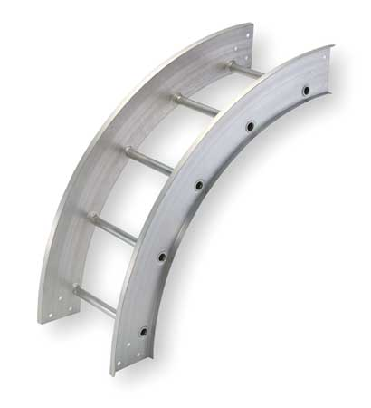 Vertical Elbow 90 Deg 12 In Width Model 248 129O 24 by USA Cope Wireways & Cable Trays
