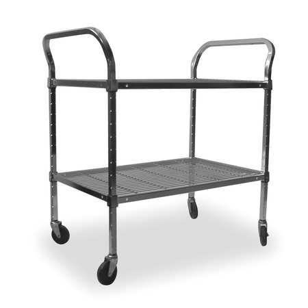 Value Brand Wire Cart 2 Shelf 36x18x39 Chrome