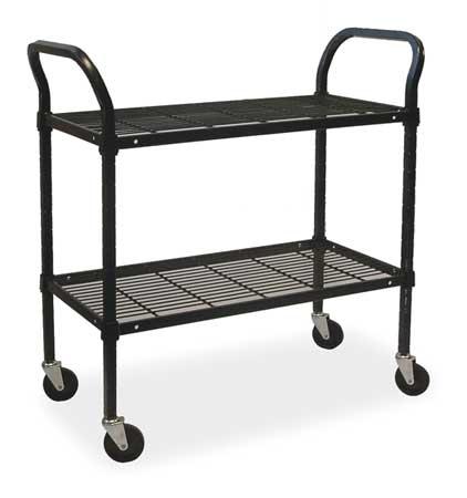 Value Brand Wire Cart 2 Shelf 36x18x39 Black