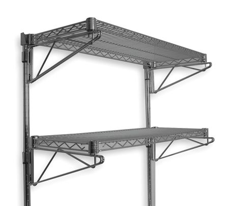 Wall-Mount Wire Shelving Kits