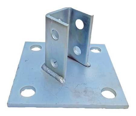 Post Base 6 In Silver by USA Value Brand Electrical Strut Channel Accessories