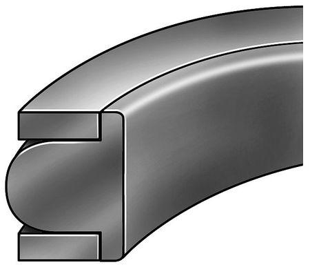 Piston Seal,3 3/8IDx3 3/4OD,3/16Wx3/16H