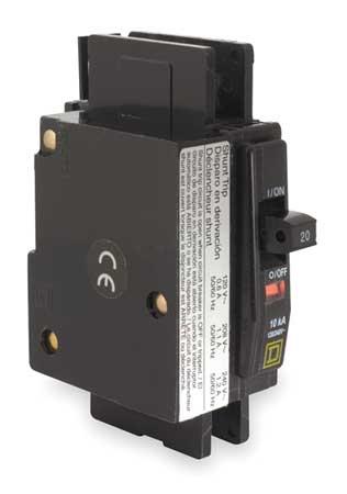 1P Shunt Trip Circuit Breaker 50A 120/240VAC by USA Square D Circuit Breakers