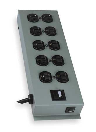 PDU 120V 10 Outlet 15 ft. Black by USA Tripp Lite Extension Power Strips