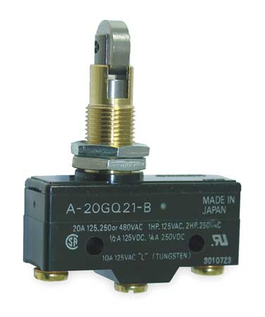 Swch 20A SPDT Pnl Mt Cross Roller Plngr by USA Omron Electrical Enclosed Snap Action Switches
