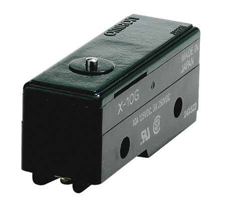 Snap Switch 10A SPDT Pin Plunger Model X 10G by USA Omron Electrical Enclosed Snap Action Switches
