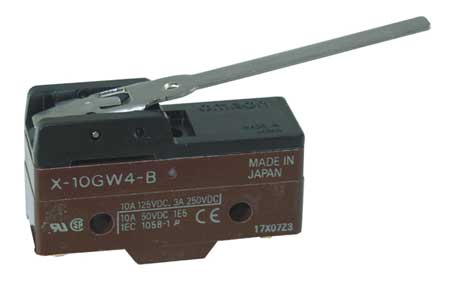 Snap Swch 10A SPDT Hinge Lever Low Force by USA Omron Electrical Enclosed Snap Action Switches
