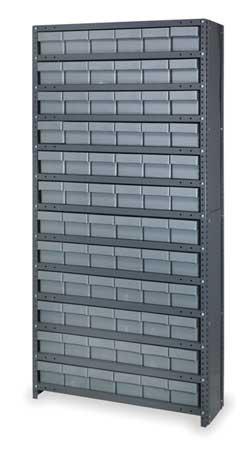 Bin Shelving Unit,with (72) 2kwb4 Bins