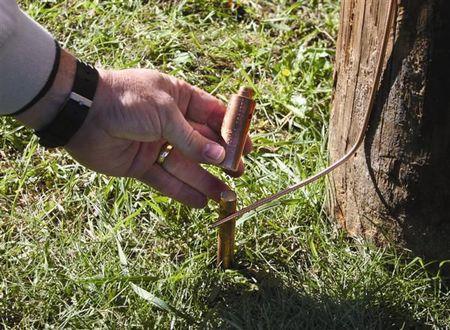 Erico Ground Rod Connector Hammer Lock Copper Ehl58g1k