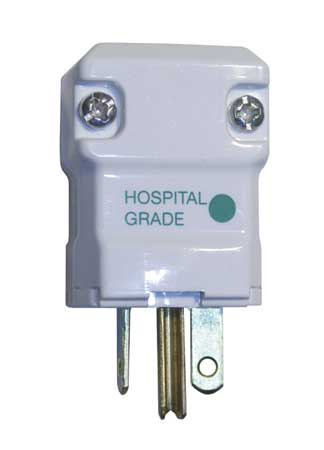 3 Wire Straight Blade Plug Hospital Grade 250VAC 20A by USA Hubbell Kellems Electrical Straight Blade Plugs