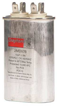 Oval Run Capacitor 370VAC, Single Rated