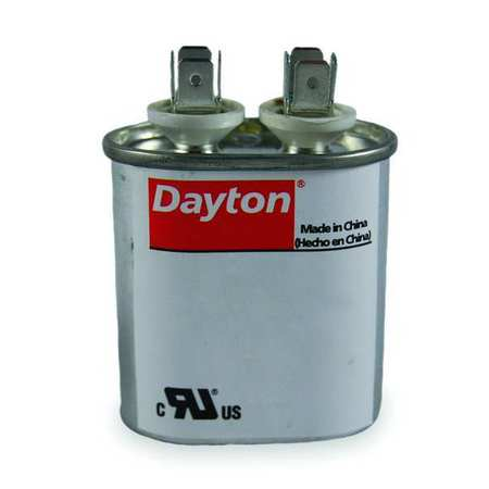 Motor Run Capacitor 80 MFD 5 5/8 In. H by USA Dayton Motor Run Capacitors