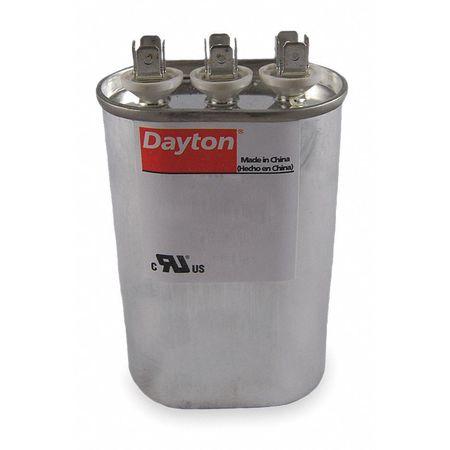 Motor Dual Run Cap 55/10 MFD 440V Oval by USA Dayton Motor Run Capacitors