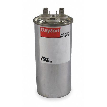 Motor Dual Run Cap 40/3 MFD 440V Round by USA Dayton Motor Run Capacitors