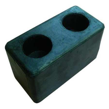 Value Brand Dock Bumper 6x3-1/8x3-1/2 In. Rubber PK2