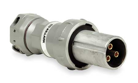 Pin & Slve Plug 100A 4P 4W 600VAC/250VDC by USA Hubbell Killark Electrical Pin & Sleeve Devices
