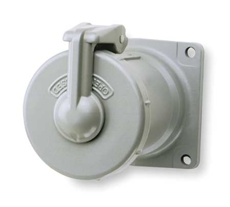 Pin & Sleev Receptacl 100A 4P 3W NEMA 4X by USA Hubbell Killark Electrical Pin & Sleeve Receptacles