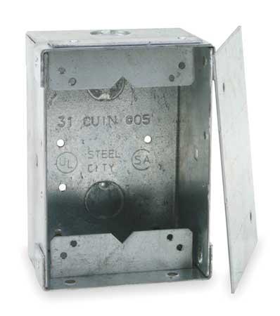 steel city floor box cover, 2-gang, 4-1/2 in. p 64 ds   zoro
