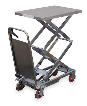Vestil Scissor Lift Cart 800 lb. SS Fixed