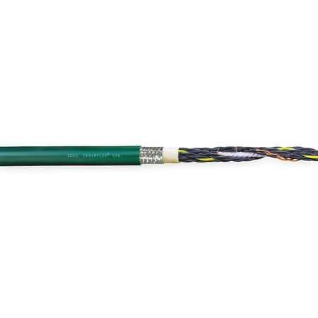 20 AWG 5 Conductor Continuous Flex Control Cable 600V GN by USA Chainflex Electrical Wire & Cable