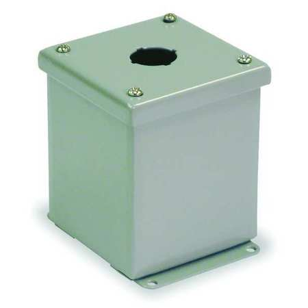 Pushbutton Enclosure 22mm 1 Hole Steel by USA Wiegmann Electrical Pushbutton Enclosures & Accessories