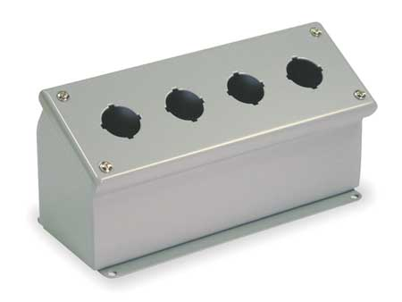 Pushbutton Enclosure 30mm 4 Holes Steel by USA Wiegmann Electrical Pushbutton Enclosures & Accessories