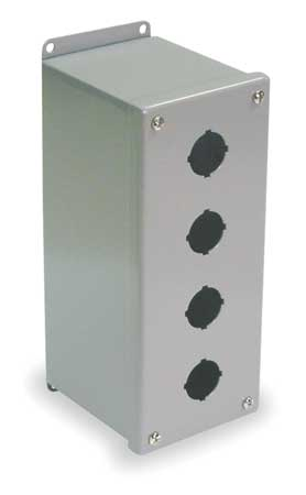 Pushbutton Enclosure 30mm 4 Holes Steel Model PBXD4 by USA Wiegmann Electrical Pushbutton Enclosures & Accessories