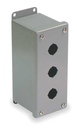 Pushbutton Enclosure 30mm 3 Holes Steel Model PBXD3 by USA Wiegmann Electrical Pushbutton Enclosures & Accessories