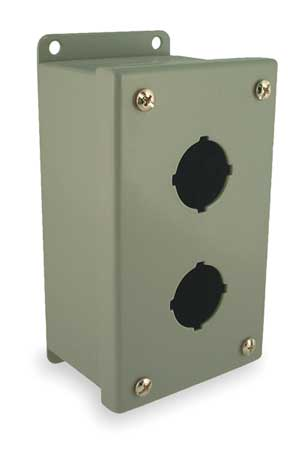 Pushbutton Enclosure 30mm 2 Holes Steel Model PB2 by USA Wiegmann Electrical Pushbutton Enclosures & Accessories