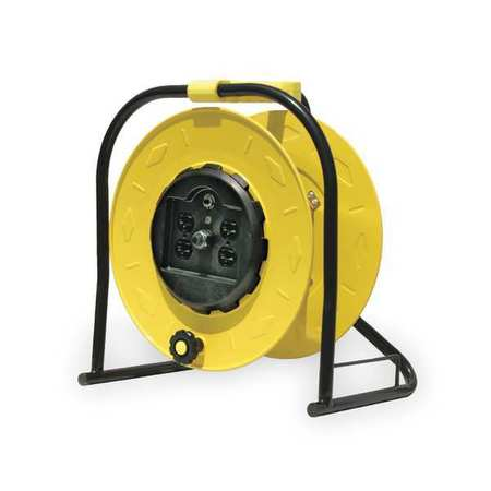 Cord Reel Industrial 120VAC STW Yellow by USA Reelcraft Extension Cord Reels