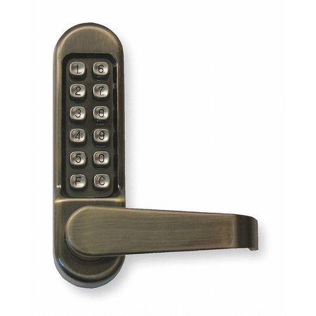Push Button Lock,Passage,Antique Brass