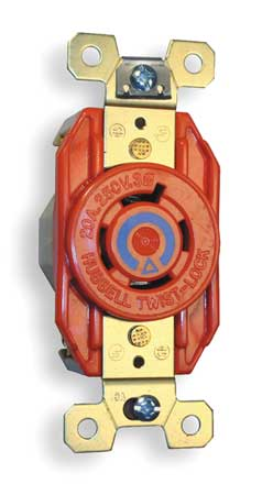20A Isolated Ground Locking Receptacle 3P 4W 240VAC by USA Hubbell Kellems Electrical Locking Receptacles