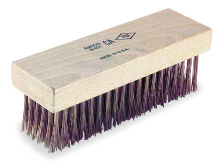 Nonsparking Scratch Brush,Bronze,6 Rows -  AMPCO, B-401