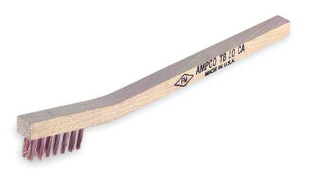 Nonsparking Scratch Brush,Bronze,3 Rows -  AMPCO, TB-10