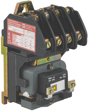 Lighting Contactr 4P 277V Open ElecHeld by USA Square D Electrical Motor Magnetic Contactors